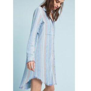 NWOT Cloth & Stone Striped Raw Hem Shirt Dress